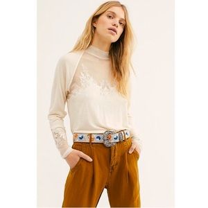 Free People Saheli Top Long Sleeve NWT